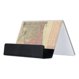Blanchard's guide map of Chicago 2 Desk Business Card Holder