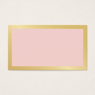 Blank Blush Pink & Gold Wedding Advice and Wishes Business Card