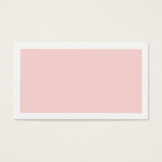 Blank Blush Pink Wedding Advice and Wishes Business Card