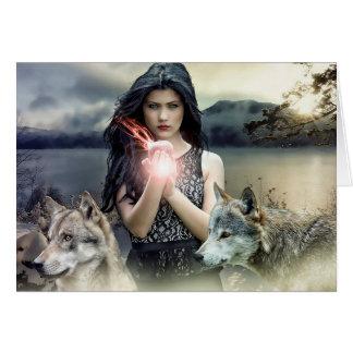 Blank Card: Mystical Woman Magical Fantasy Art Card