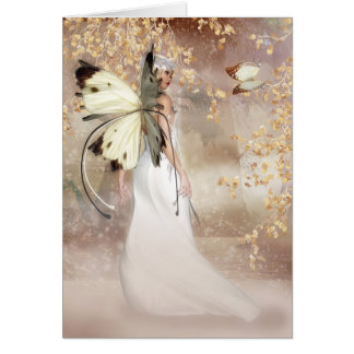 Blank Fantasy Fairy Art Card - The Spirit Of Dawn