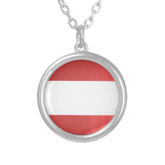 BlanK STRIPE Template DIY add TXT IMAGE EVENT name Round Pendant Necklace