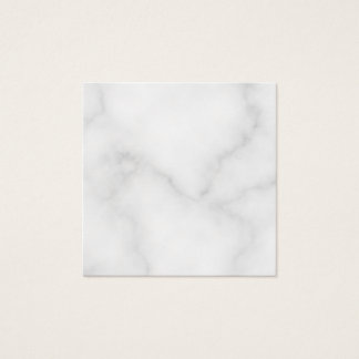 Blank White Marble Square Business Card
