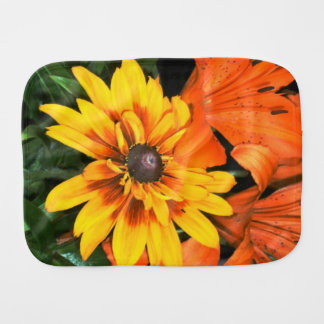 Blanket Flower Among the Lilies