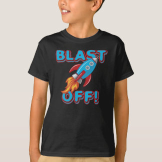 Blast Off Rocket Ship T-Shirt