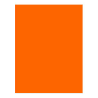 BLAZING ORANGE (solid on fire color) ~ Postcard
