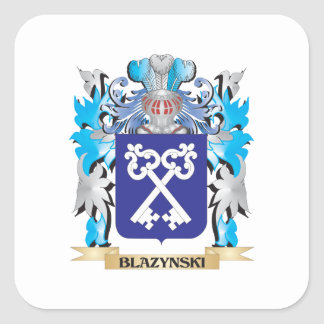 Blazynski Coat of Arms Square Stickers