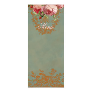 Blenheim Rose Menu Card