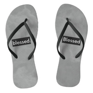 blessed. Full Print Customizable Jandals