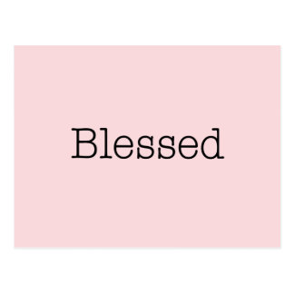Blessed Quotes Pink Inspirational Faith Quote Postcard