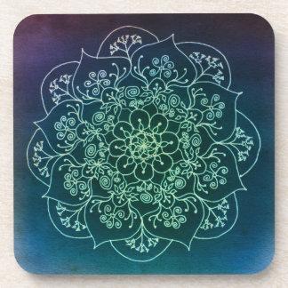 Blessed Rain Mandala Cork Coaster