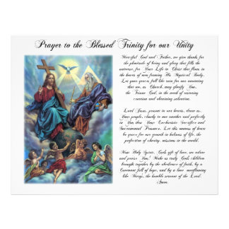 Blessed Trinity Prayer for Unity Flyer