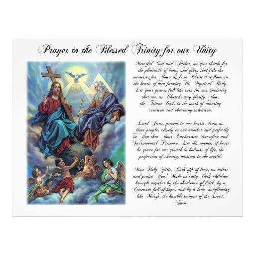 Blessed Trinity Prayer for Unity Flyer