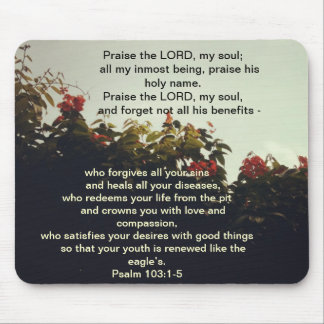 Blessings from our God - Bible Scripture Mousepad