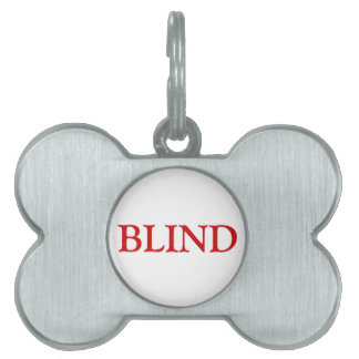 Blind Pet Tag - Red