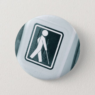 Blind sign design 6 cm round badge