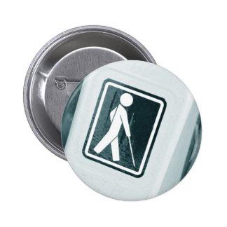 Blind sign design pinback buttons