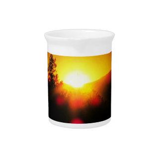 Blinding dawn orange juice sunrise pitcher