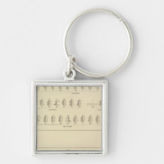 Blindness, Statistical US Lithograph Silver-Colored Square Key Ring
