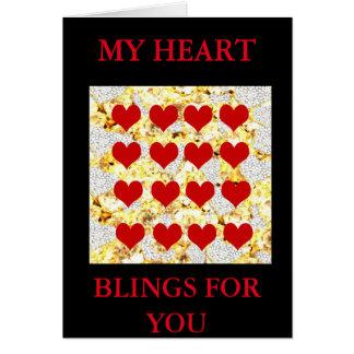 BLING HEARTS CARD