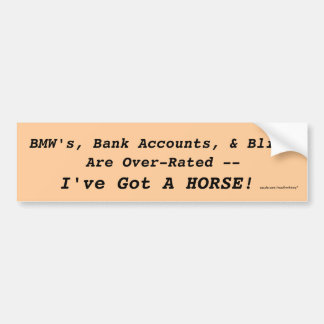 Bling vs. Horse Bumper Sticker