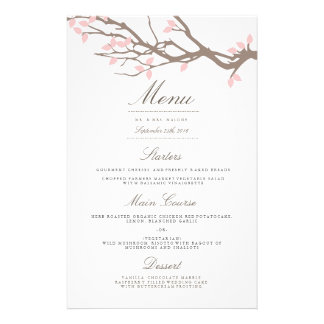 Blissful Branches Wedding Dinner Menu