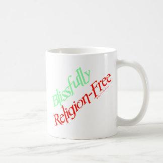 Blissfully Religion-Free Basic White Mug
