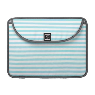 Blizzard Blue Stripes; Striped Sleeve For MacBook Pro