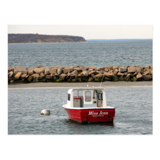Block Island Boat Postcard