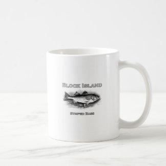 Block Island RI Vintage Striped Bass Coffee Mug