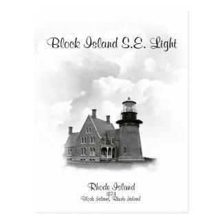 Block Island Southeast Light, Rhode Island Postcard