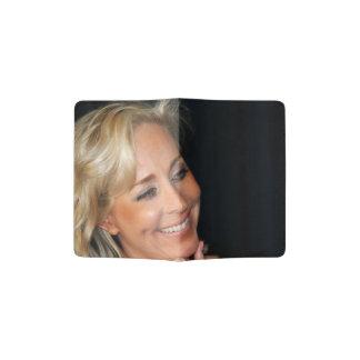 Blond Woman Smiling Passport Holder