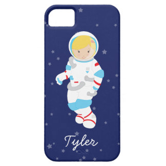 Blonde Astronaut in Space iPhone 5 Covers