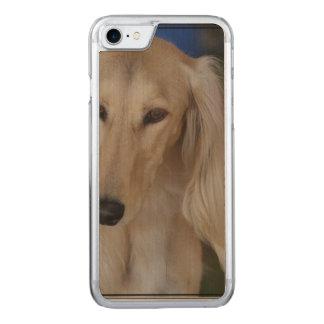 Blonde Saluki Dog Carved iPhone 8/7 Case