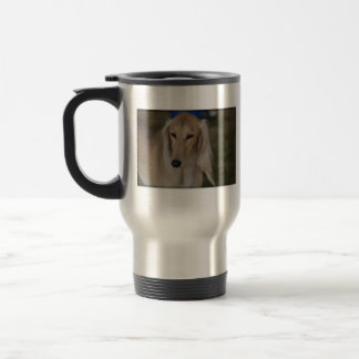 Blonde Saluki Dog Travel Mug