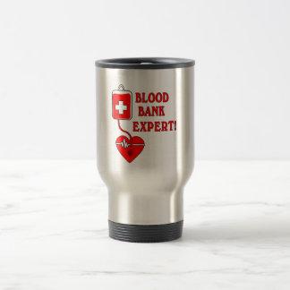 BLOOD BANK EXPERT STAINLESS STEEL TRAVEL MUG