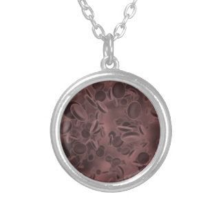 Blood Cells Silver Plated Necklace