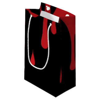 Blood dripping small gift bag