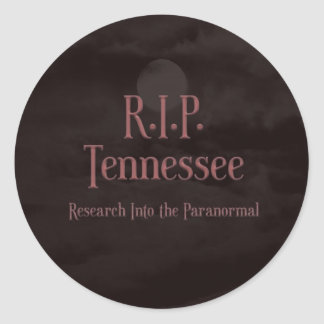 Blood Moon Logo RIP Tennessee Round Stickers