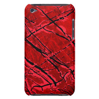 BLOOD RED ROYALE (an abstract art design) ~ iPod Case-Mate Cases