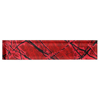 BLOOD RED ROYALE (an abstract art design) ~ Name Plate