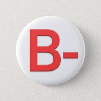 Blood Type B Rh Negative Button