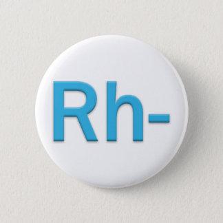 Blood Type Rh Negative Button