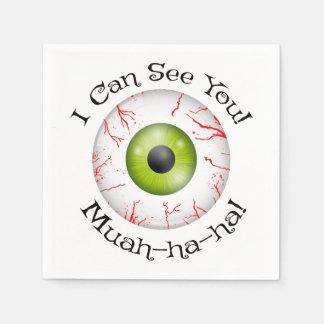 Bloodshot Eyeball Halloween Party Paper Napkins