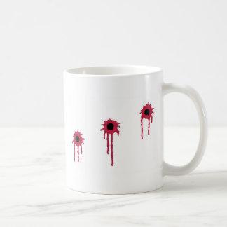 BLOODY BULLET HOLES COFFEE MUG