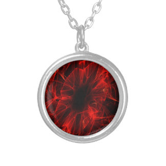 Bloody Flower Silver Plated Necklace
