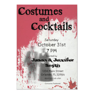 Bloody Ghost Adult Halloween Party Invitation