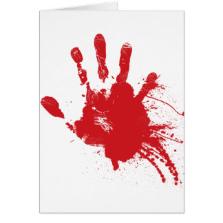 Bloody Handprint Greeting Card