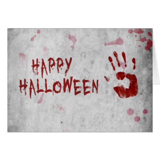 Bloody Handprint Halloween - Greeting Card