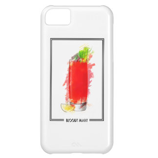 Bloody Mary Cocktail Marker Sketch iPhone 5C Case